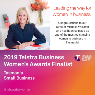 State Finalist in the Telstra Women's Business Awards 2019